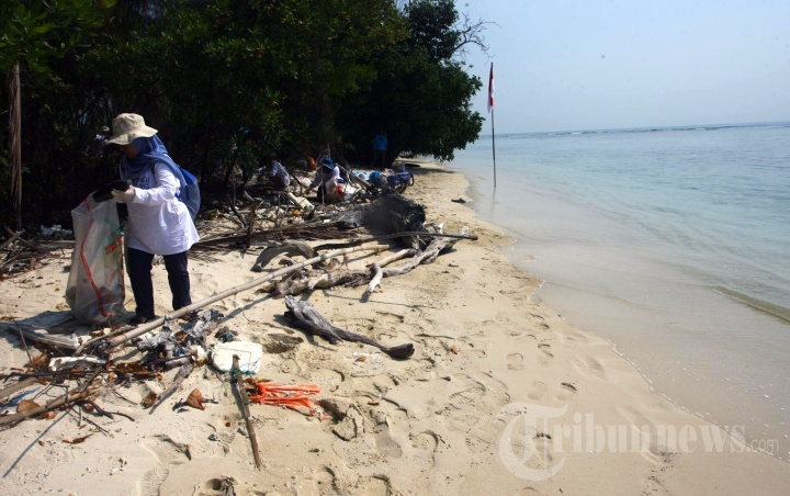 Rayakan Kemerdekaan RI Yayasan Kehati Bersih-bersih Pantai
