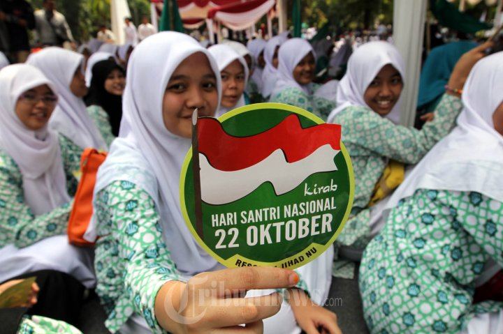 Peringatan Hari Santri Nu Resolusi Jihad Nu Peringatan Hari Santri Nasional Foto 3 1619988 Tribunnews Com Mobile