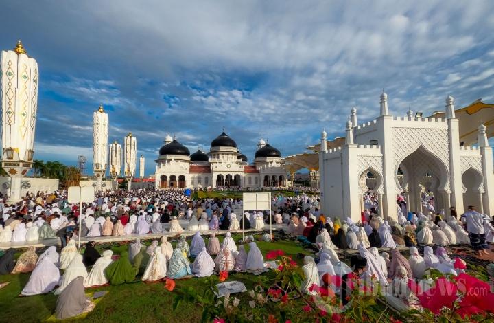 Salat Iduladha 1441 H di Masjid Raya Baiturrahman Banda Aceh