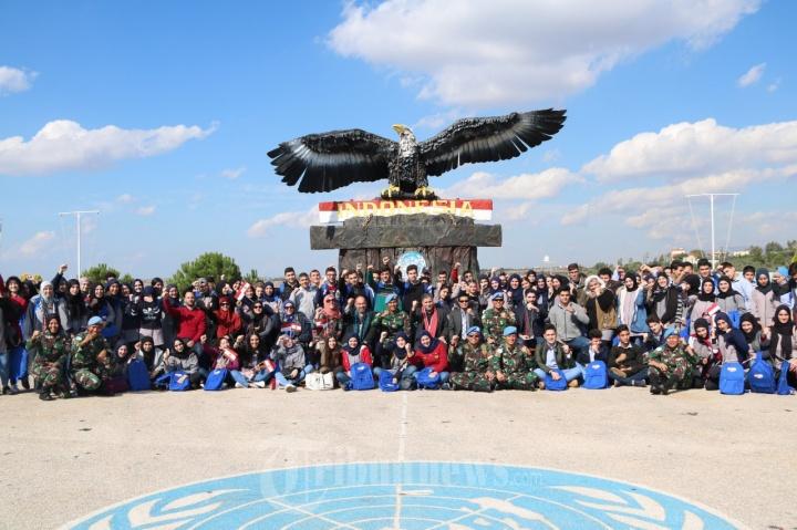 Siswa Lebanon Kunjungi Markas Pasukan Garuda Indobatt