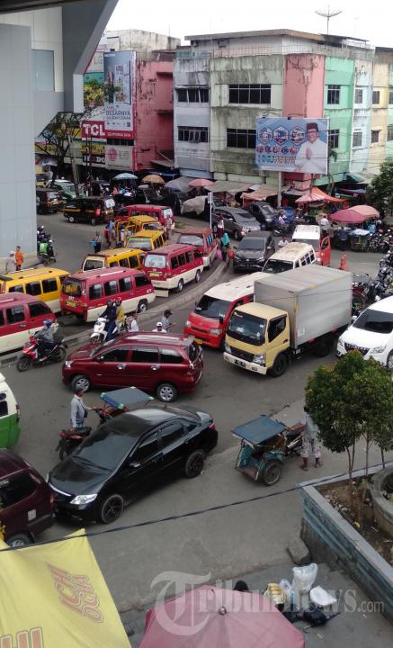 Suasana Pasca Penertiban Jukir Liar di Pasar 16 Ilir Palembang