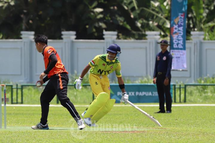Tim Cricket Putra DKI Melaju Ke Semi Final di Ajang PON XX Papua