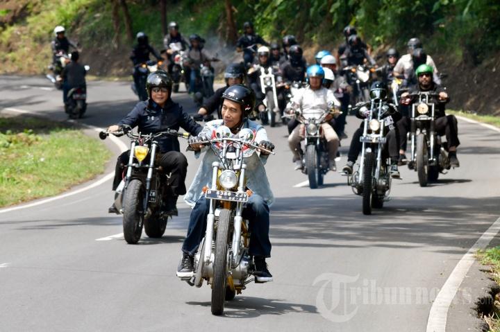 Aksi Joko 'Renegade' Widodo di Sukabumi
