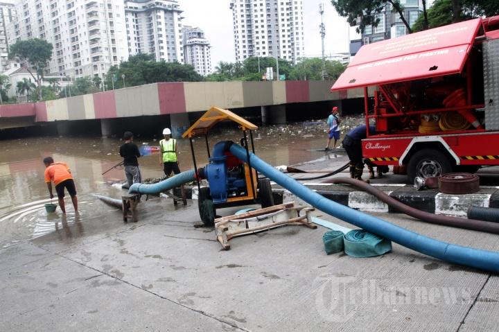 Underpass Kemayoran Kembali Terendam Banjir
