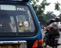 Stiker Mantan Presiden Soeharto Nempel di Angkot