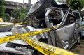 Bangkai Mobil Kecelakaan Maut di Tol Jagorawi