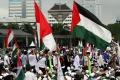 Aksi Bela Palestina di Monas
