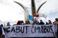 Aksi Mahasiswa Tolak UU Ciptaker Aceh