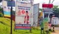 Alat Peraga Kampanye Pilkada Tangsel Dipasang Sembarangan