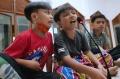 Anak-anak Kumandangkan Takbir di Masjid Al-Amanah Rancamanyar