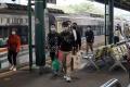 Arus Balik Kereta Api Jarak Jauh di Stasiun Gambir