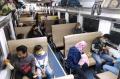 Calon Penumpang di Stasiun Kiaracondong Bandung
