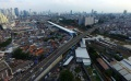 Foto Udara Suasana Kawasan Stasiun Tanah Abang
