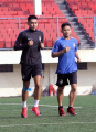 Gelandang PSIS Semarang Septian David Maulana Lakukan Latihan