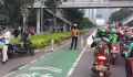 Jalur Sepeda Dimasuki Pengendara Motor