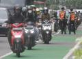 Jam Pulang Kantor Motor Banyak Lewati Jalur Sepeda