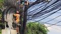 Kabel Semrawut di Jalan WR Supratman Ciputat