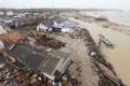 Kerusakan Akibat Tsunami Selat Sunda di Sumur