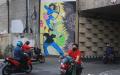 Lukisan Mural Covid-19 di Kawasan Pancoran