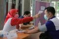 May Day Buruh Terima Vaksin Di Balaikota Semarang