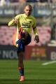 Pemain FC Barcelona Lakukan Pemanasan Jelang Lawan Eibar
