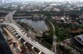Pembangunan Jembatan Lentang Panjang LRT di Kuningan