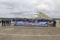 Penerbangan Perdana Garuda Indonesia di Bandara APT Pranoto