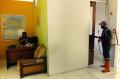 Penyemprotan Disinfektan di Kantor Redaksi Tribun Jabar