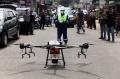 Penyemprotan Disinfektan Menggunakan Drone di Pekanbaru