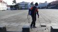 Penyemprotan Kawasan Wisata Kota Tua Jelang New Normal