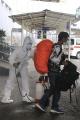 Petugas Semprot Disinfektan Pekerja Migran Indonesia…