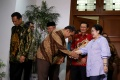 Pimpinan MPR Temui Megawati Bahas Amandemen UUD 1945