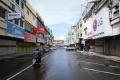 PPKM Darurat, Pertokoan Kawasan Pasar Tengah Lampung Tutup