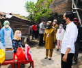 Presiden Jokowi Blusukan Tinjau Kegiatan Vaksinasi Covid-19 Door to Door
