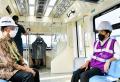 Presiden Jokowi Tinjau Perkembangan Proyek LRT Jabodebek