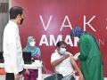 Presiden Jokowi Tinjau Sentra Vaksinasi Covid-19 di RSUI Depok