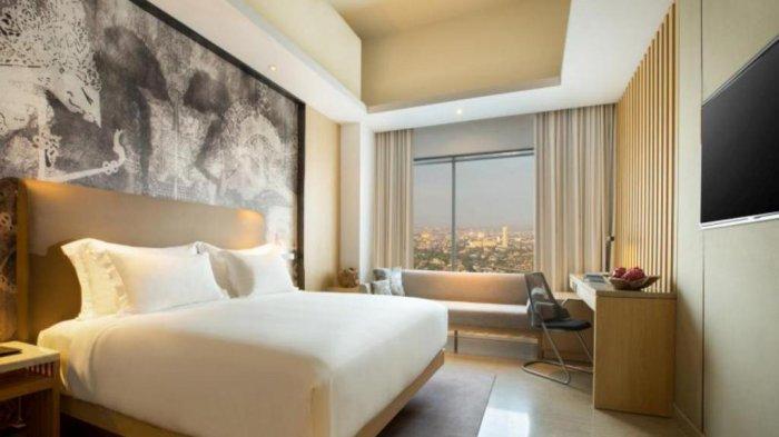 Salah satu tipe kamar di hotel Alila Solo