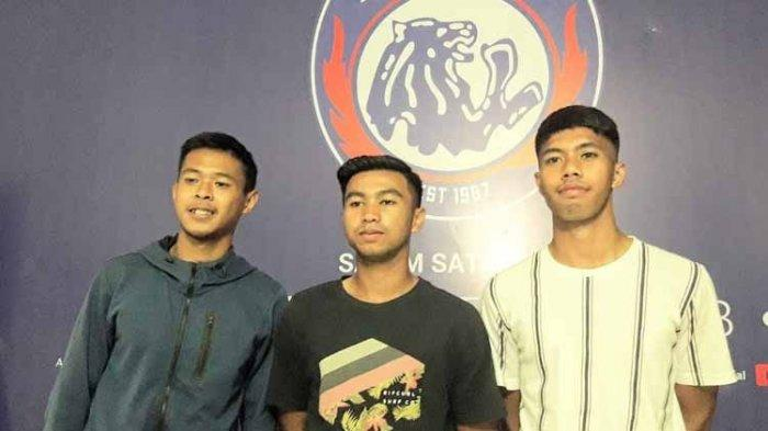 Arema fc  Wiga Brillian Syahputra, Ricga Tri Febyan dan Sandy Febian