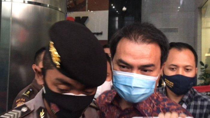 Wakil Ketua DPR Azis Syamsuddin usai memenuhi panggilan Komisi Pemberantasan Korupsi di Gedung Merah Putih KPK, Rabu (9/6/2021).