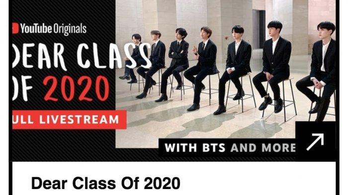 BTS dear class of 2020 nominasi