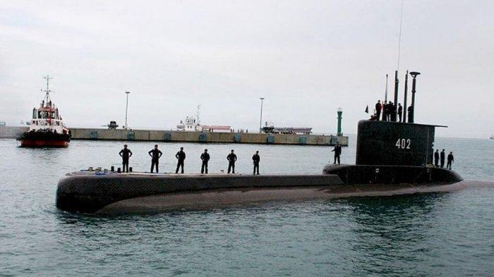 Kapal Selam TNI AL KRI Nanggala-402 hilang kontak di perairan Bali, Rabu (21/4/2021).