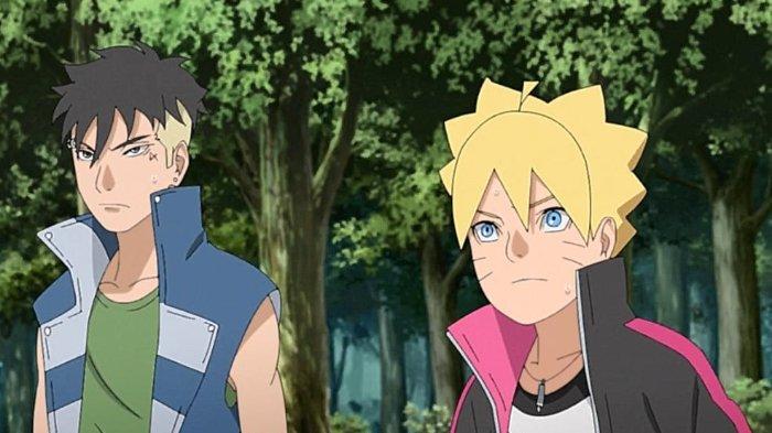Kawaki dan Boruto dalam Anime Boruto: Naruto Next Generations