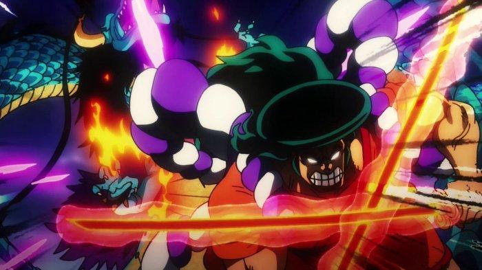 Kozuki Oden melawan Kaido di One Piece