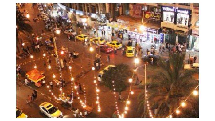Suasana malam di Nablus Palestina