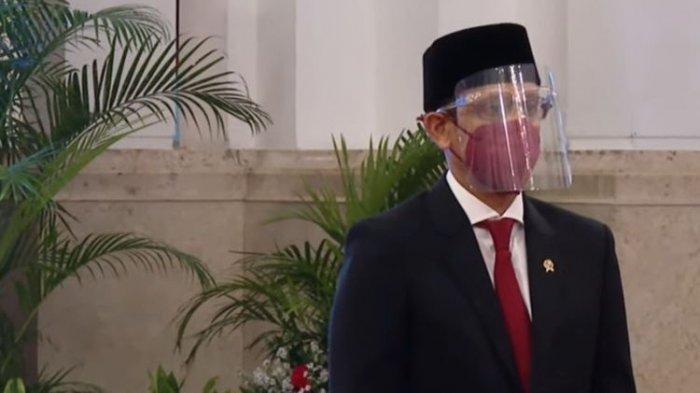Presiden Joko Widodo melantik Nadiem Anwar Makarim sebagai Menteri Pendidikan, Kebudayaan, Riset, dan Teknologi sesuai nomenklatur yang baru, Rabu (28/4/2021),