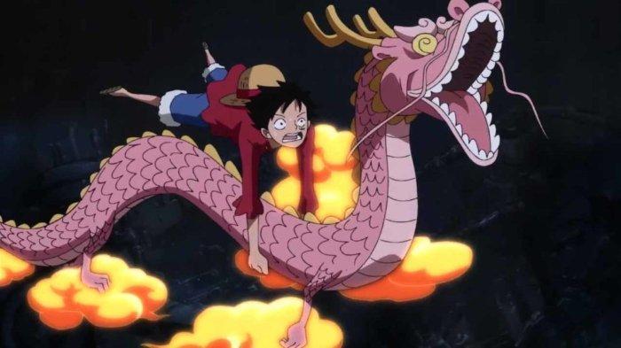 Luffy dan Momonosuke di ONE PIECE