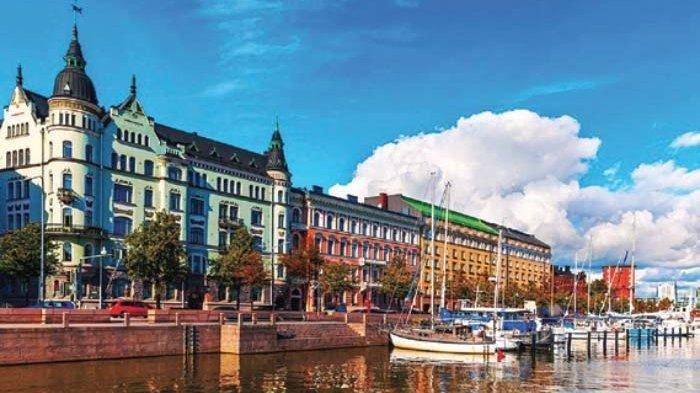 Pemandangan salah satu wilayah Helsinki, ibu kota dan kotamadya yang terletak di Pantai Teluk Finlandia.