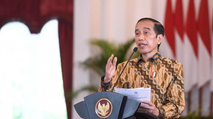Pengarahan Presiden Jokowi kepada kepala daerah se-Indonesia, secara virtual, dari Istana Negara, Jakarta, Senin (17/05/2021).