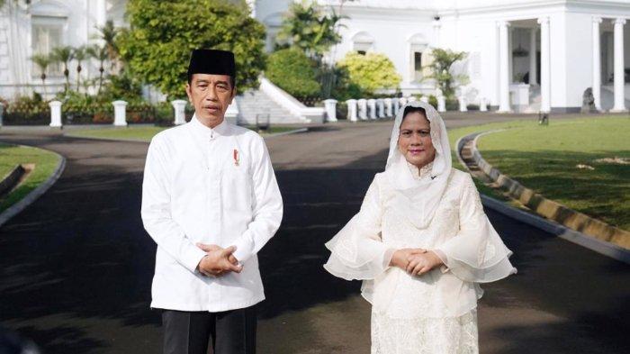 Presiden RI dan Ibu Negara Iriana Joko Widodo (Jokowi) menyampaikan ucapan Hari Raya Idulfitri 1 Syawal 1442 Hijriah yang jatuh pada Kamis (13/05/202).