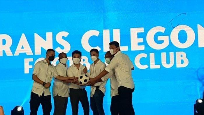 Raffi Ahmad di acara peresmian Rans Cilegon FC, Rabu (31/3/2021) malam.
